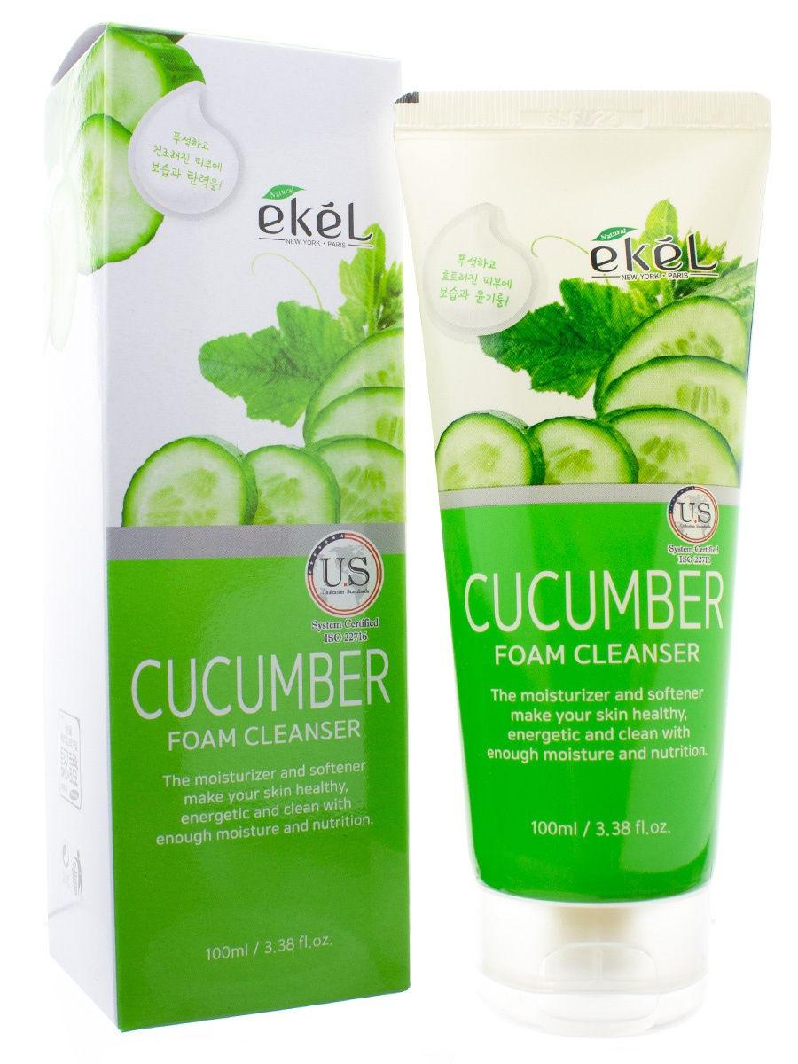 Купить Пенка для умывания EKEL с экстрактом огурца Foam Cleanser Cucumber 100 мл