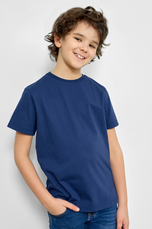 Базовая футболка, 2 шт. Mark Formelle 21-10584П-0 цв. синий р. 122