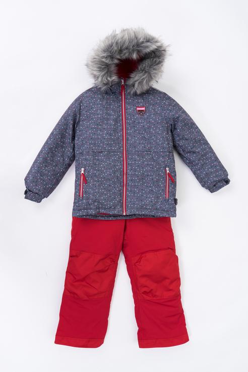 Купить F 20 M 720, Комплект куртка и полукомбинезон Buki для девочек цв. серый р-р. 128,