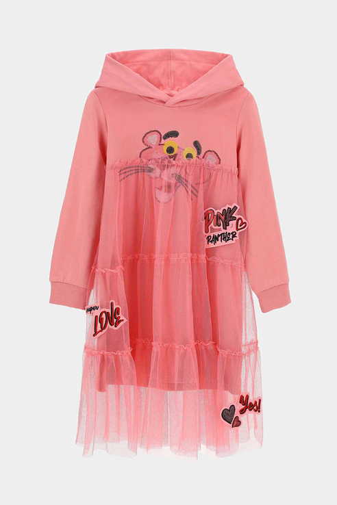 Купить AZAV3659F, Платье-толстовка Original Marines для девочек цв. розовый р-р. 104,