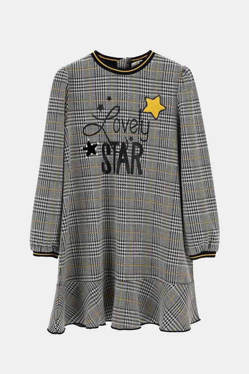 Купить AZA3693F1, Платье Original Marines для девочек цв. серый р-р. 104,
