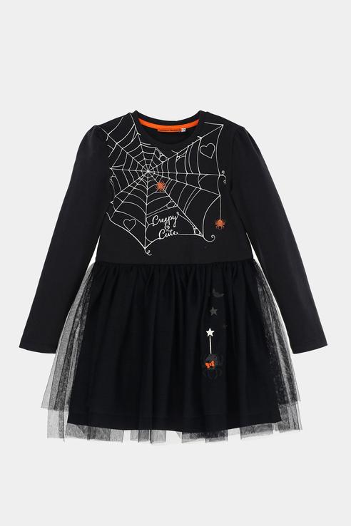 Купить AZA3812F, Платье Original Marines для девочек цв. черный р-р. 104,