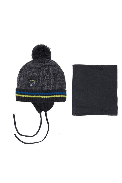 Комплект шапка и манишка Buki для мальчиков