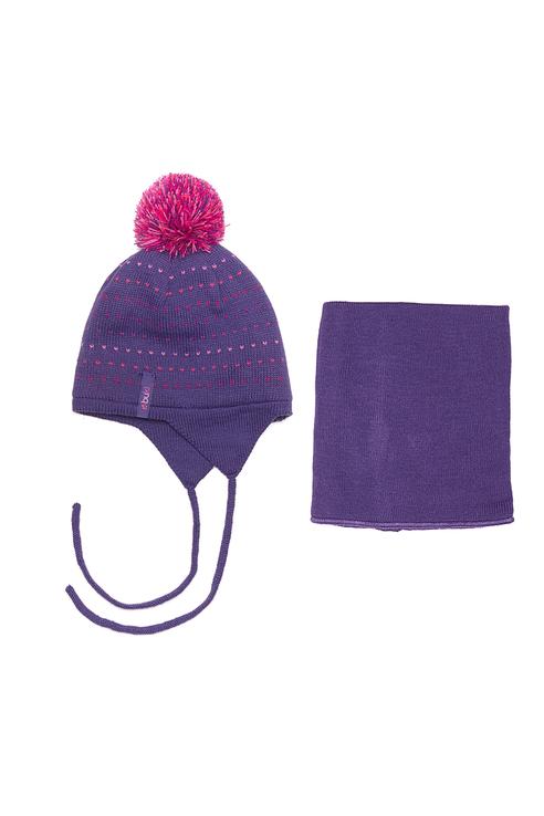 Комплект шапка и манишка Buki для девочек