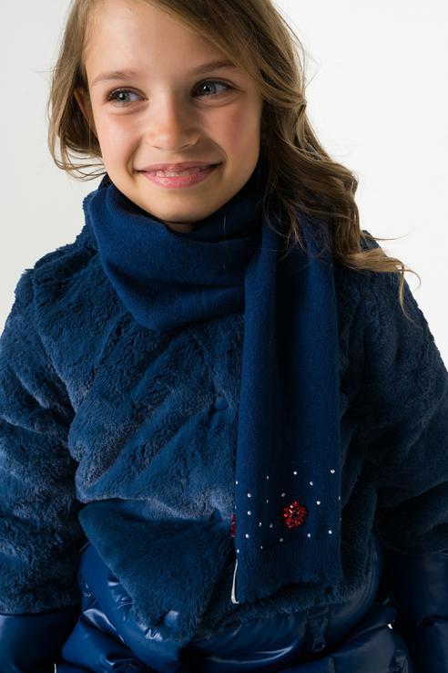 Шарф Boboli для девочек цв. синий