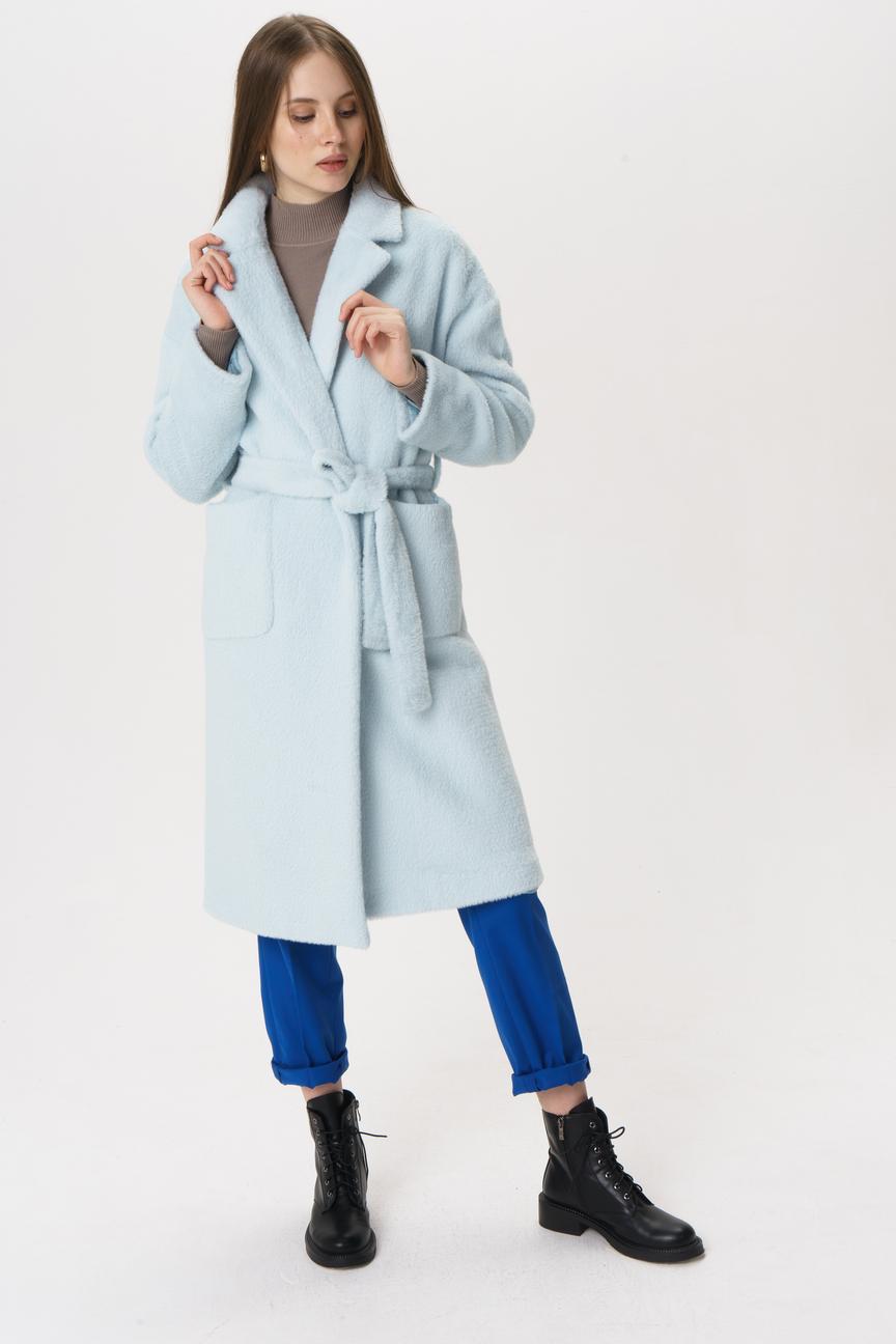 Пальто-халат женское Tom Farr T4F W9822 голубое 44