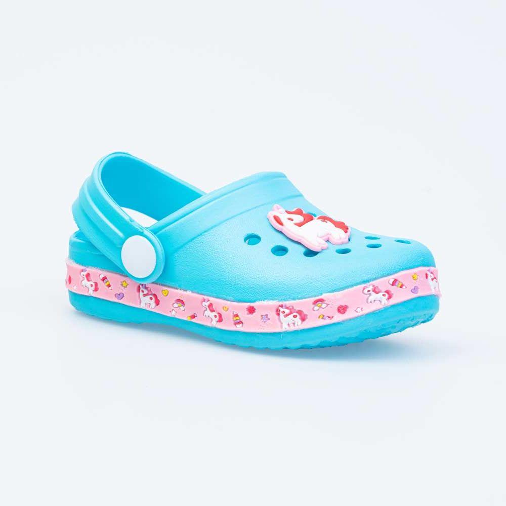 Купить Пляжная обувь для девочек Котофей 325102-01 голубой р.24-25,