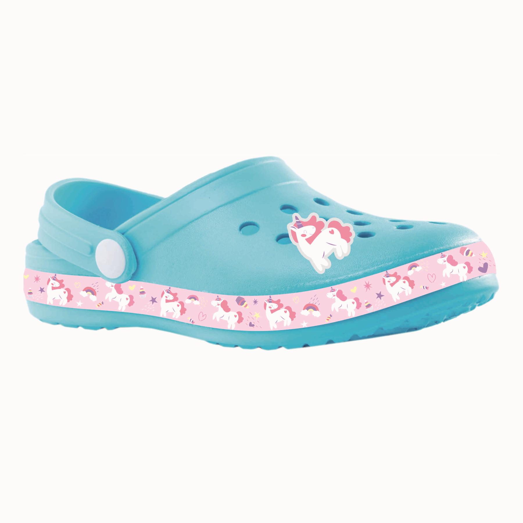 Пляжная обувь для девочек Котофей 525083-01 голубой р.32-33
