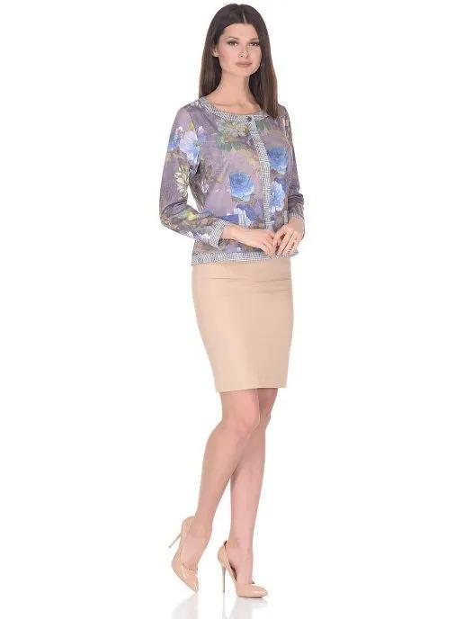 Жакет женский La Fleuriss F4-4032-127 фиолетовый 44