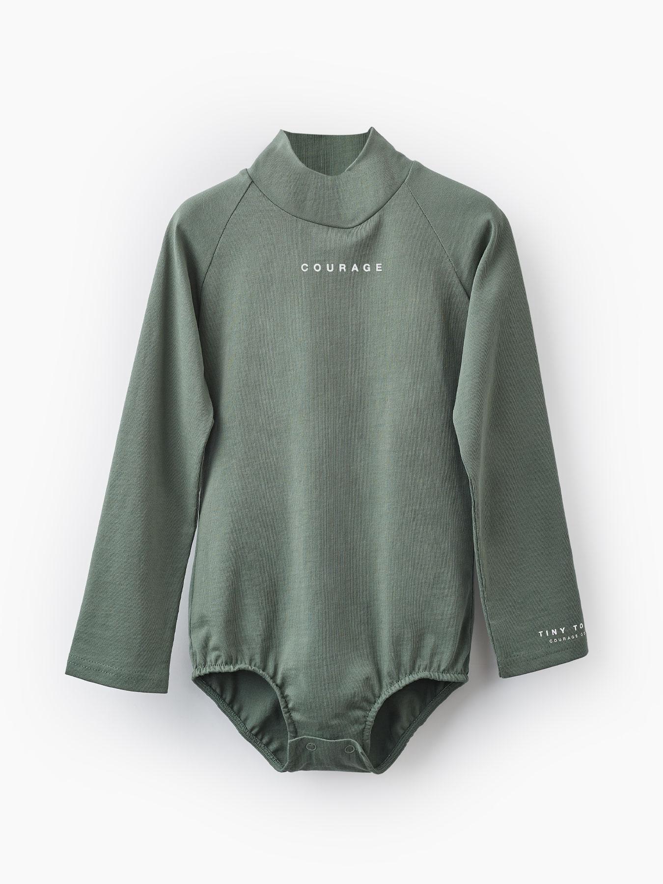 Купить 88087, Боди из хлопкового трикотажа (green, 86) Happy Baby зеленый 86,