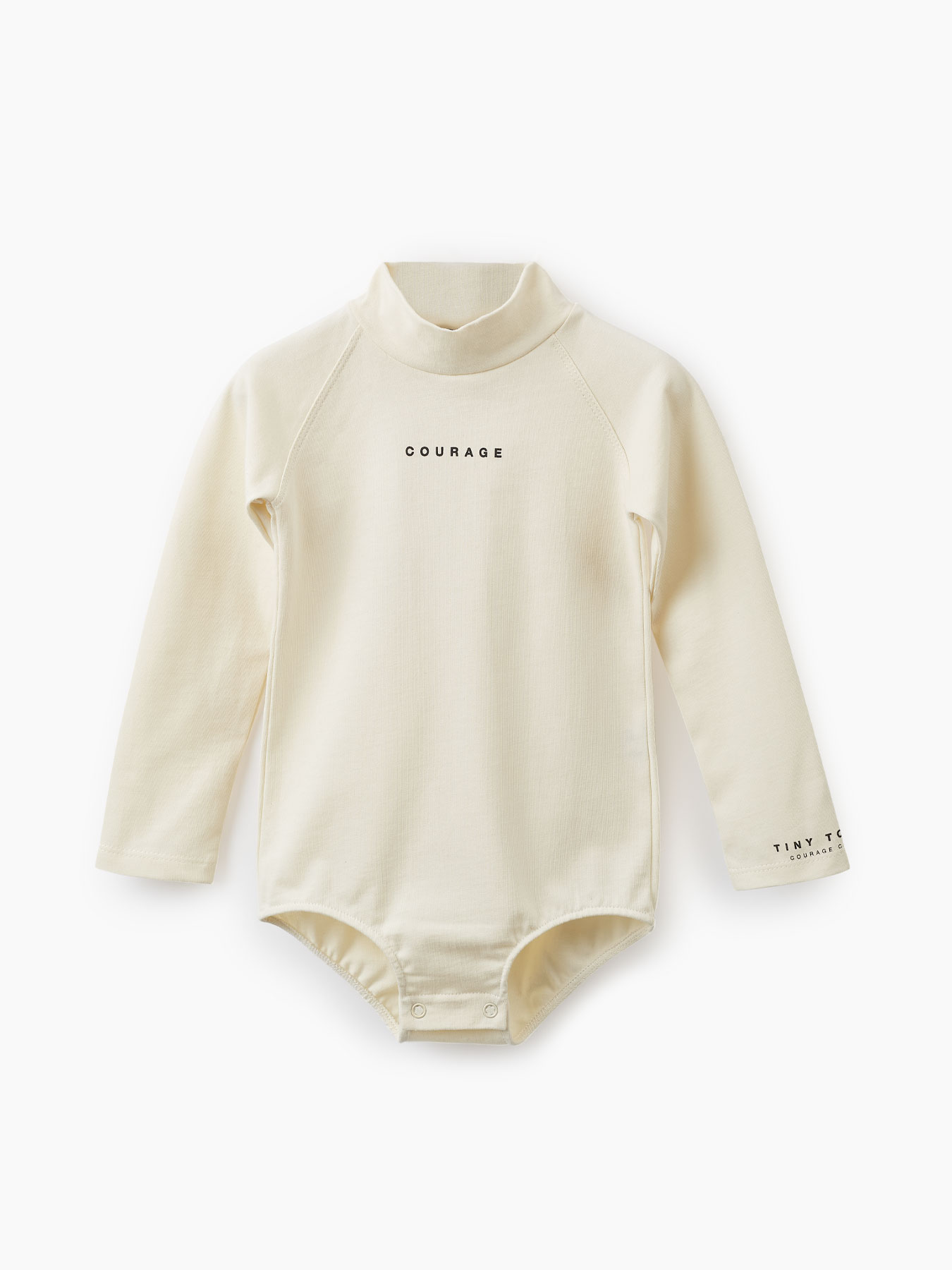 Купить 88087, Боди из хлопкового трикотажа (milky, 86) Happy Baby бежевый 86,