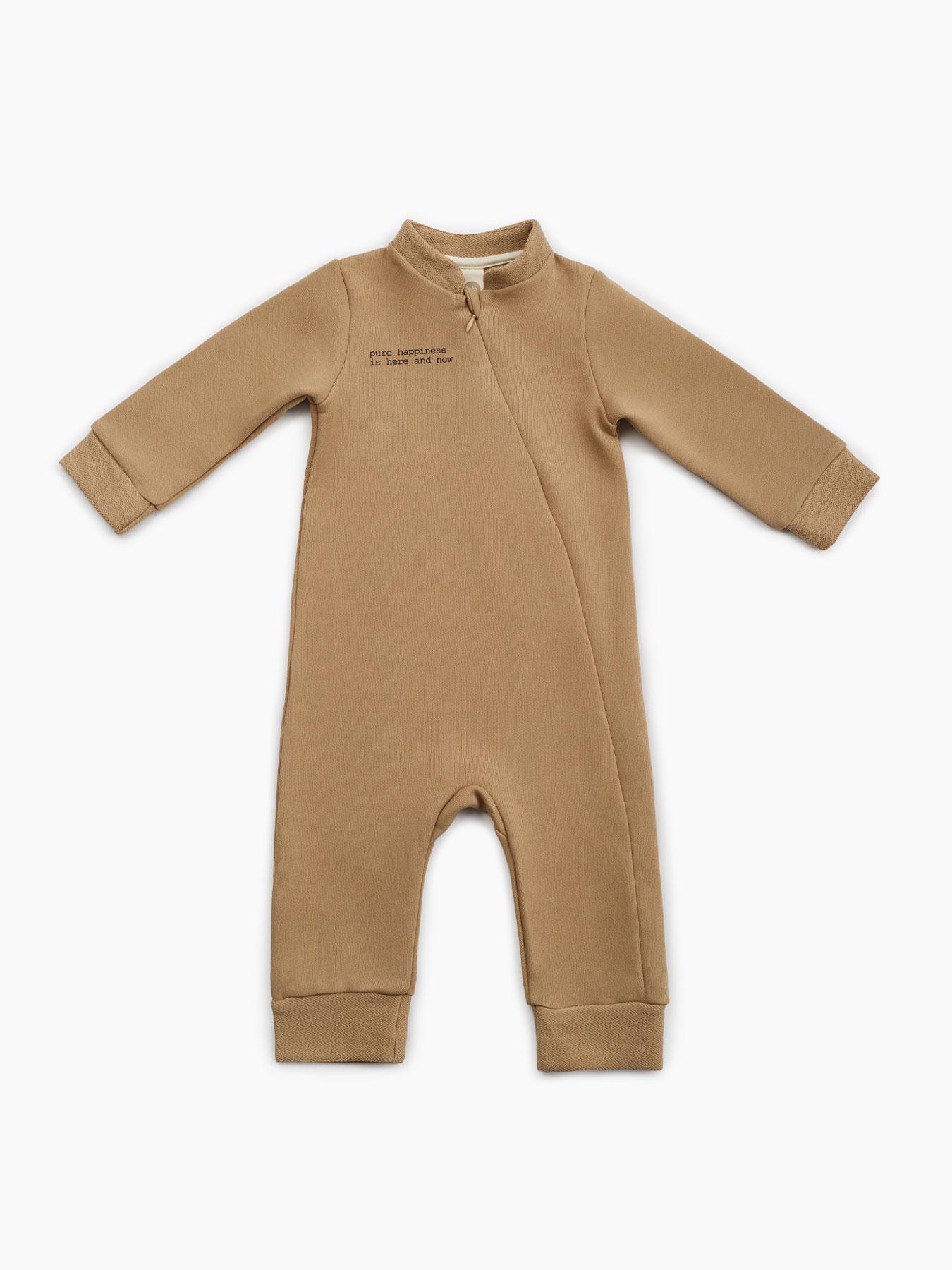88093, Комбинезон из футера (sand, 86) Happy Baby желтый 86,  - купить со скидкой