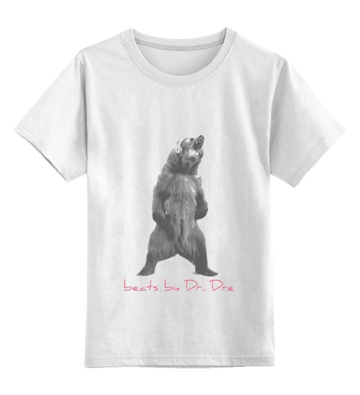 Купить 0000000676381, Детская футболка классическая унисекс Printio Beats by dre футболка р.128,