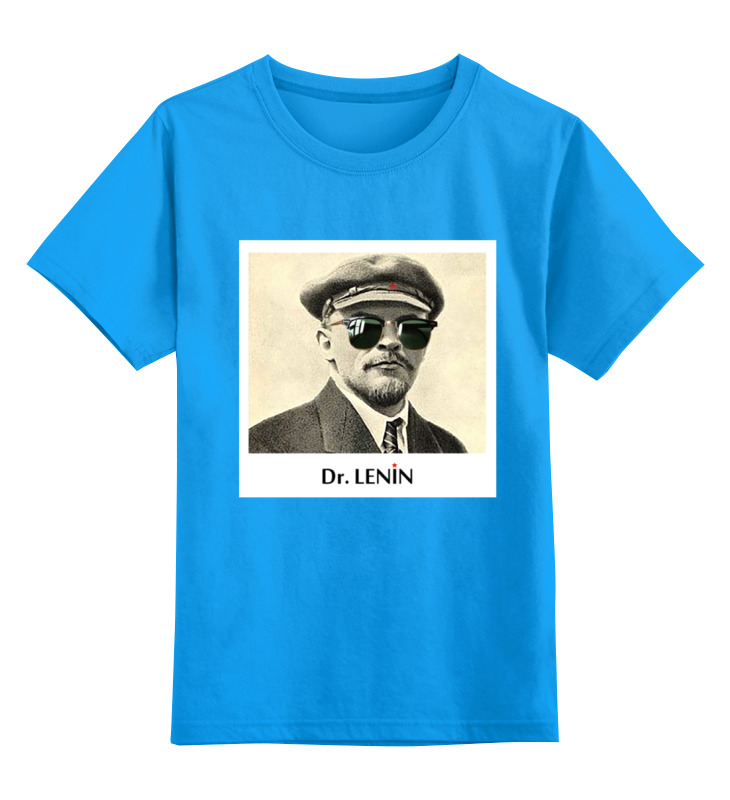 Купить 0000000677737, Детская футболка классическая унисекс Printio Dr. lenin р.128,