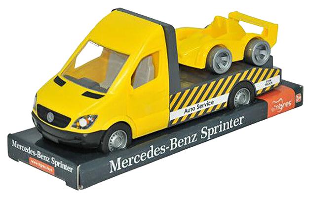 Машинка Тигрес Mercedes Benz Sprinter эвакуатор желтый