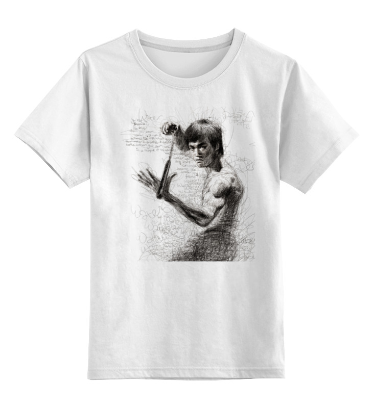 Купить 0000000680944, Детская футболка классическая унисекс Printio Bruce lee р.128,