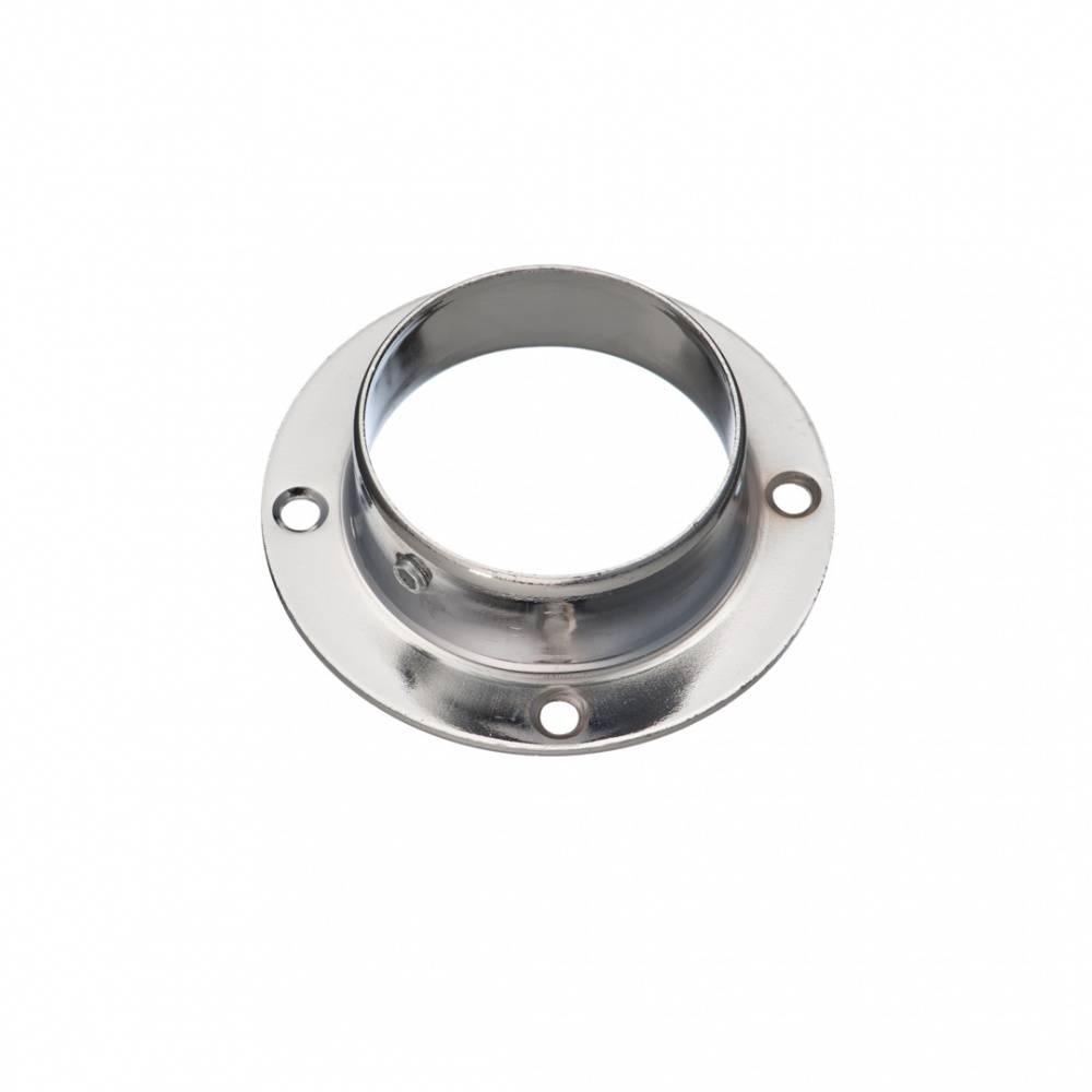 Фланец диаметр 50 мм сквозной, 71x71x22, хром,