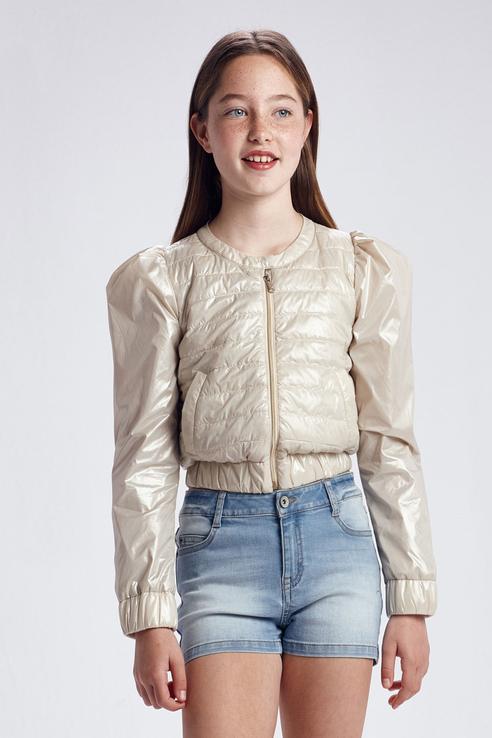 Купить Стеганая куртка с оригинальными рукавами Mayoral 6473/21 Бежевый 152,