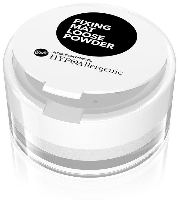 Купить Пудра Bell Hypo Hypoallergenic Укрепляющая Рассыпчатая Fixing Mat Loose Powder, бесцветная, BELL Hypoallergenic