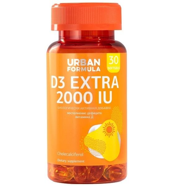 Купить Витамин Д3 2000 МЕ Urban Formula D3 Extra 2000 UI капсулы 30 шт.
