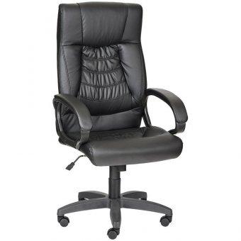 Кресло руководителя Olss Хилтон, кожзам черный, механизм