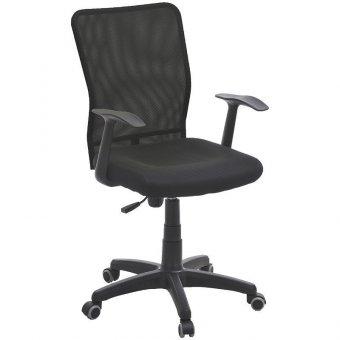 Кресло руководителя Фабрикант Альфа PL, ткань/черная, спинка