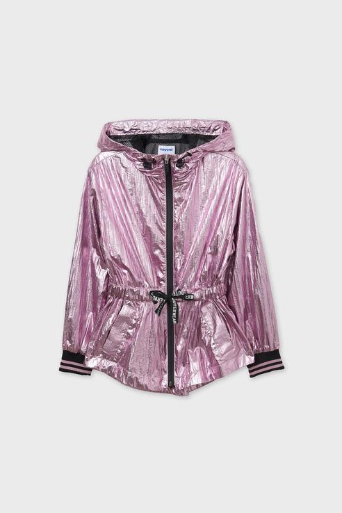 Яркая голографичная куртка-ветровка Mayoral 6472/21 Розовый 152,  - купить со скидкой