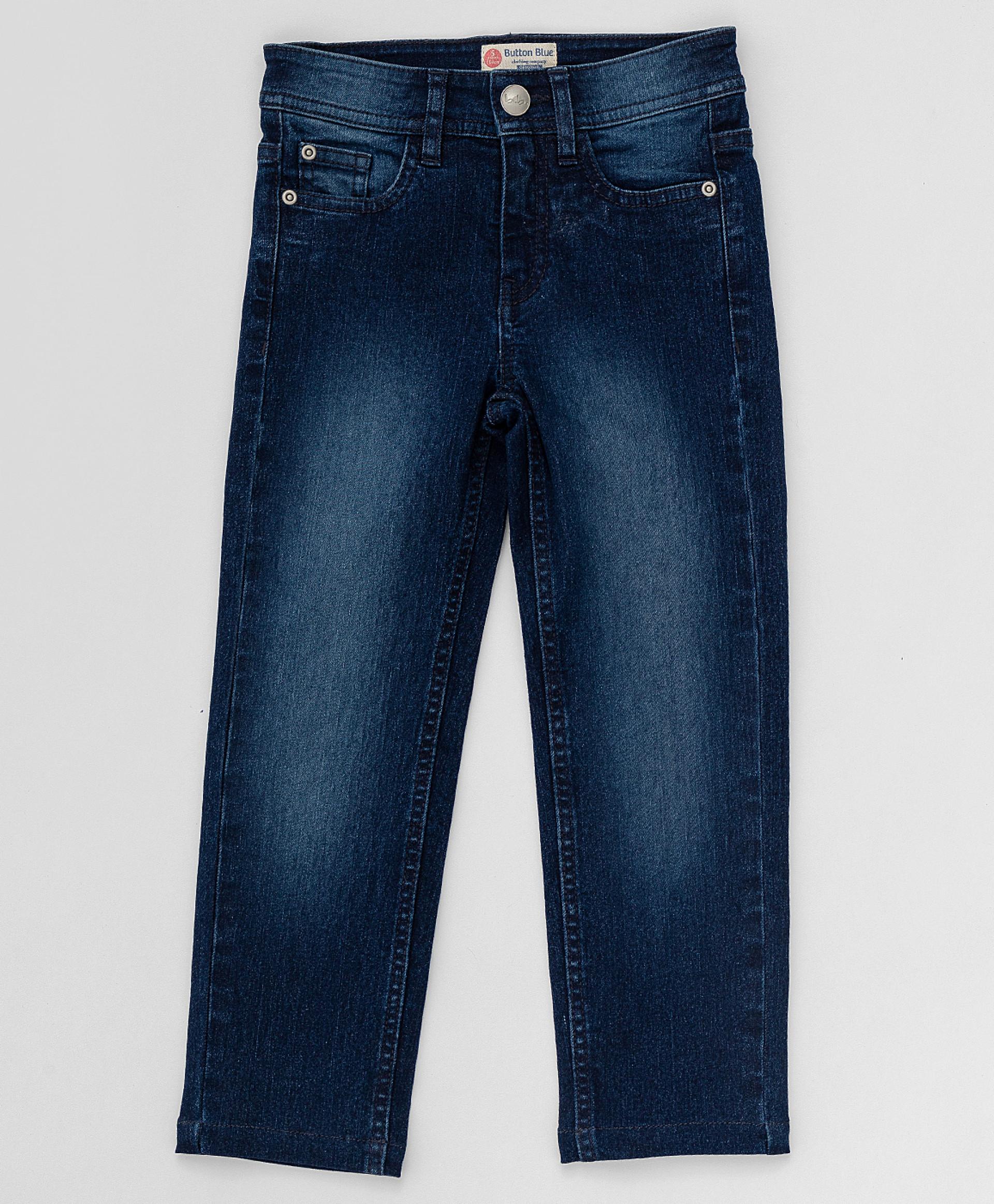 Купить Синие прямые джинсы Button Blue, размер 134 220BBGJC6302D500,