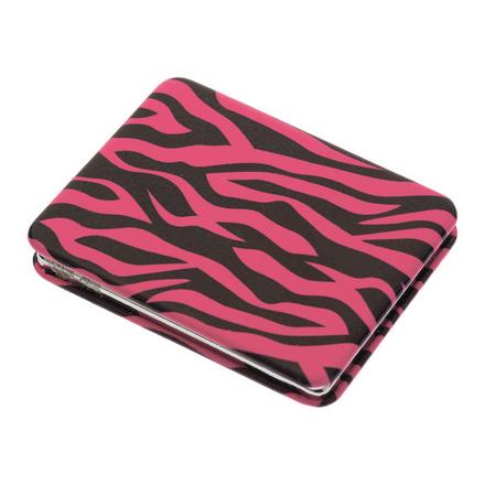 Купить Зеркало карманное Dewal Дикая природа прямоугольное розовый тигр