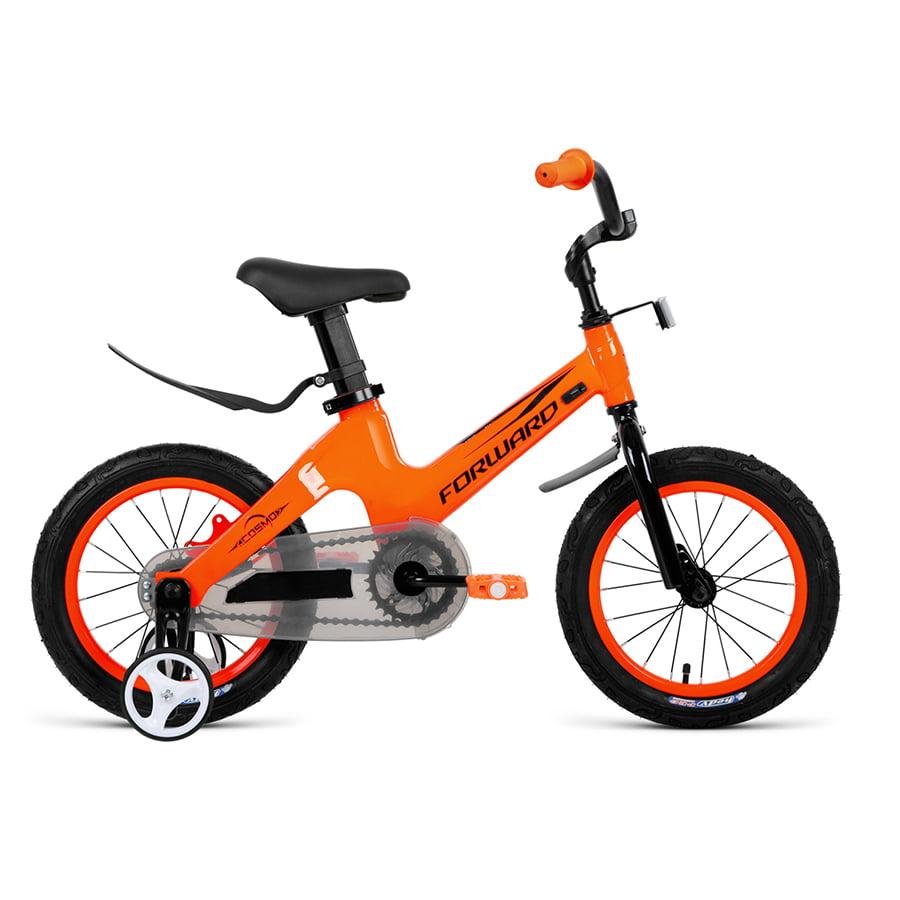 Купить Велосипед детский 12 Forward Cosmo MG 2021 год Оранжевый,