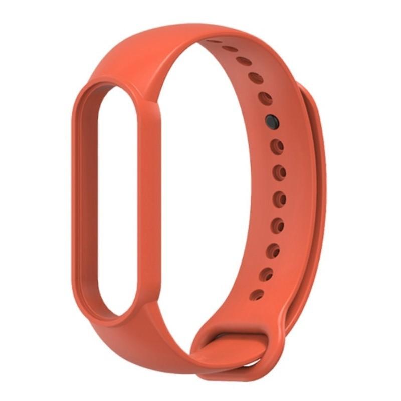 Силиконовый ремешок Mijobs для Xiaomi Mi Band 5 / Mi Band 5 NFC (красно-оранжевый)