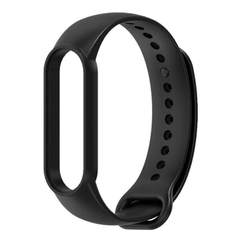 Силиконовый ремешок Mijobs для Xiaomi Mi Band 5 / Mi Band 5 NFC (черный)