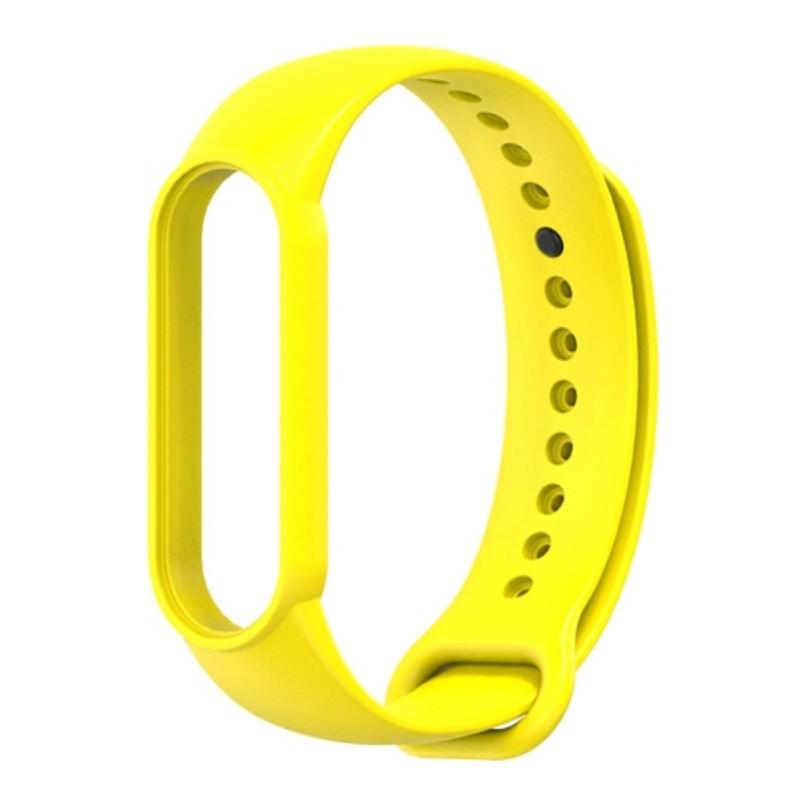 Силиконовый ремешок Mijobs для Xiaomi Mi Band 5 / Mi Band 5 NFC (желтый)