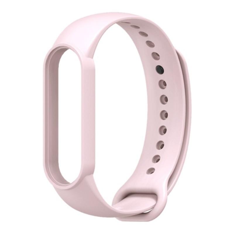 Силиконовый ремешок Mijobs для Xiaomi Mi Band 5 / Mi Band 5 NFC (светло-розовый)