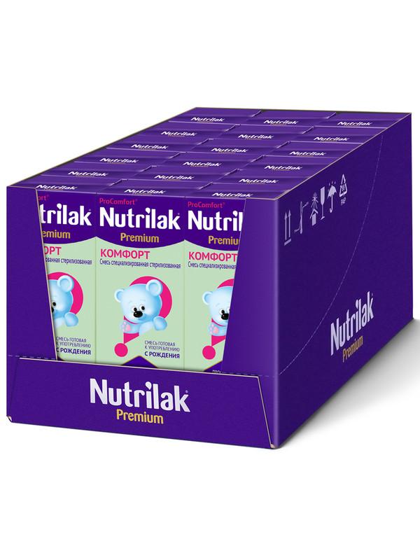 Смесь Nutrilak Премиум Комфорт специализированная, 0-12 месяцев, 200 мл, 18 шт, тетра пак