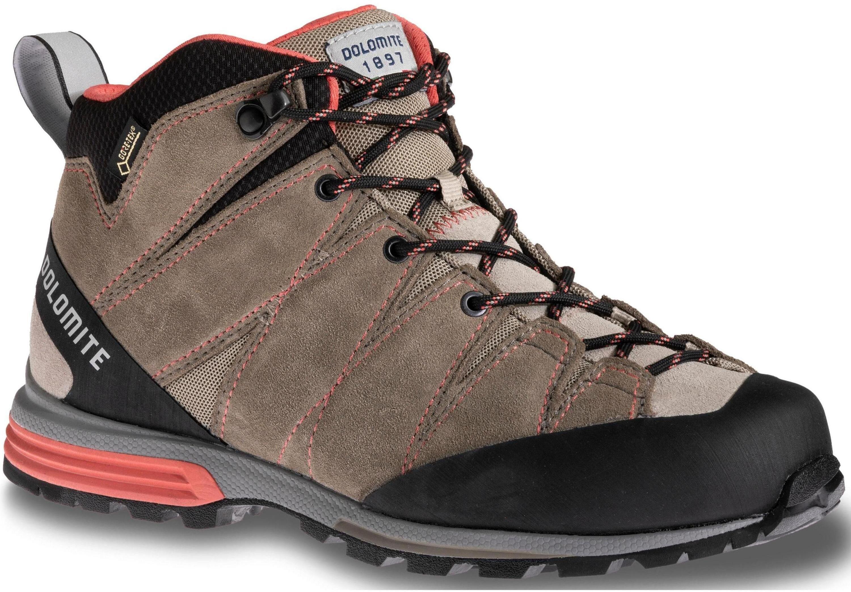 Ботинки Для Хайкинга (Высокие) Кож Dolomite Diagonal Pro Mid Gtx W's Mud Gr/Crl R (Uk:7)