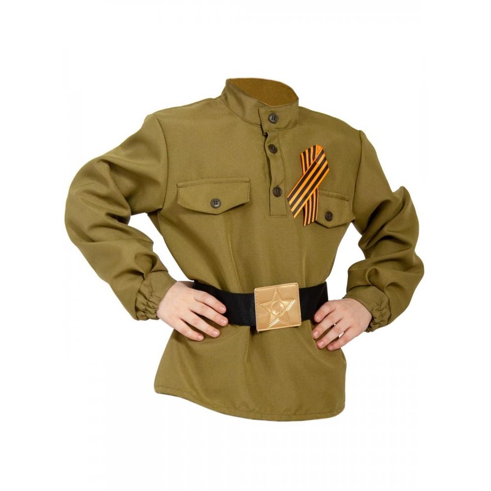 Карнавальный костюм Карнавалофф Гимнастерка с ремнем,