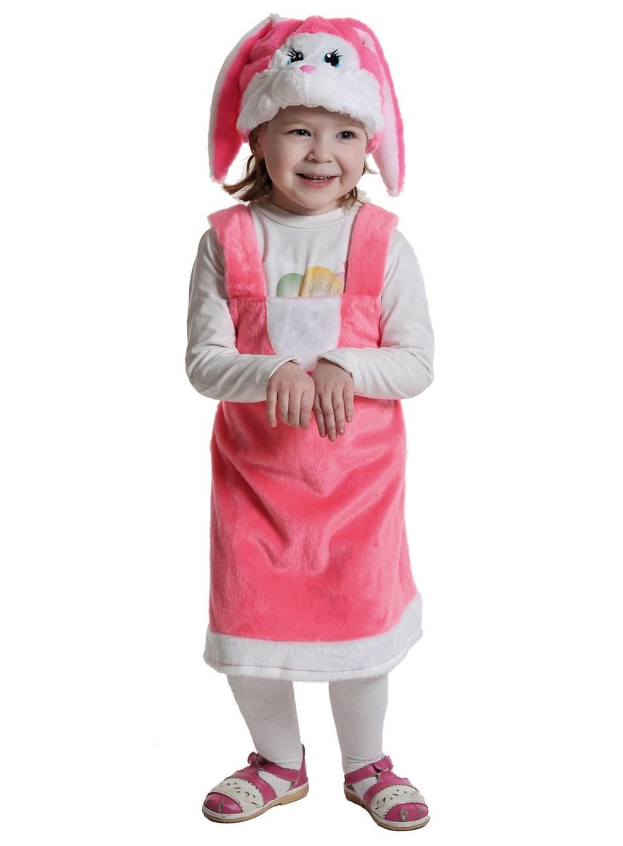 Карнавальный костюм Карнавалофф Плюш Заинька розовая, размер