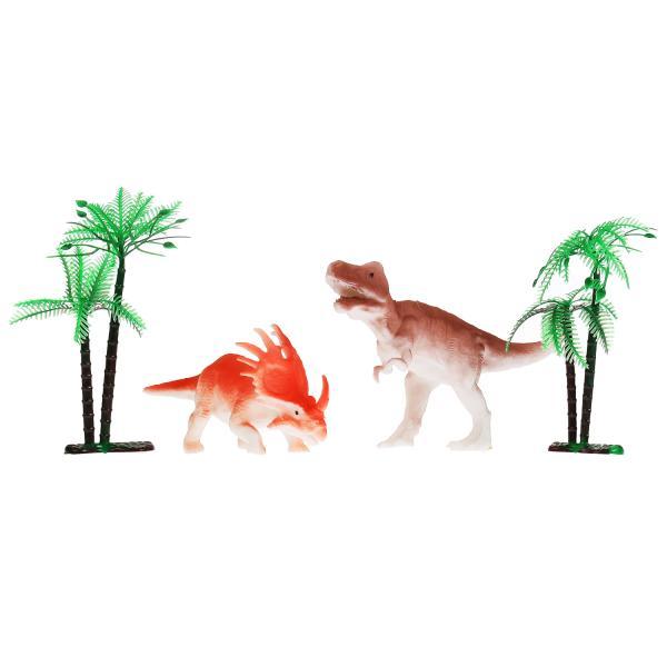 Купить Игрушка пластизоль набор динозавров меняют цвет в воде пак с хэдером ИГРАЕМ ВМЕСТЕ, Играем Вместе,