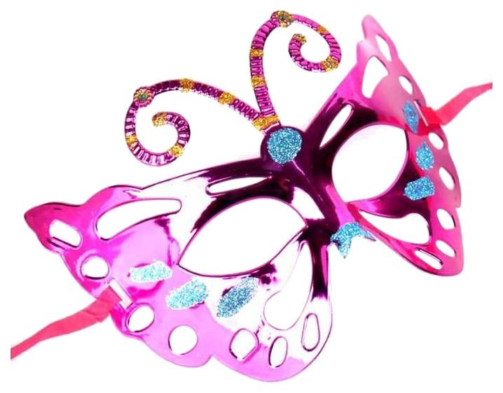Купить Маска маскарадная для детей Феникс-Презент Фиолетовая 41902, Феникс Present,