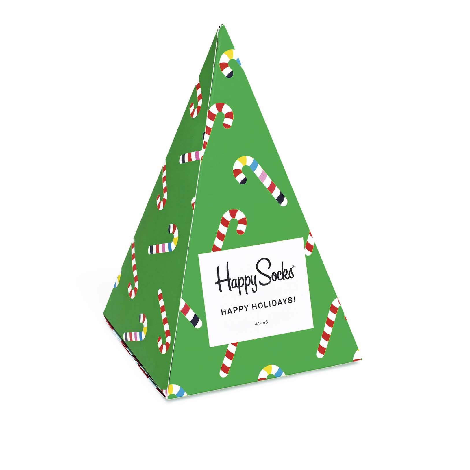 Подарочный набор носков унисекс Happy Socks Christmas Tree 3 Pair Pack зеленый 41-46