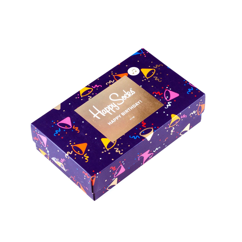 Подарочный набор носков унисекс Happy Socks Happy Birthday фиолетовый 36-40