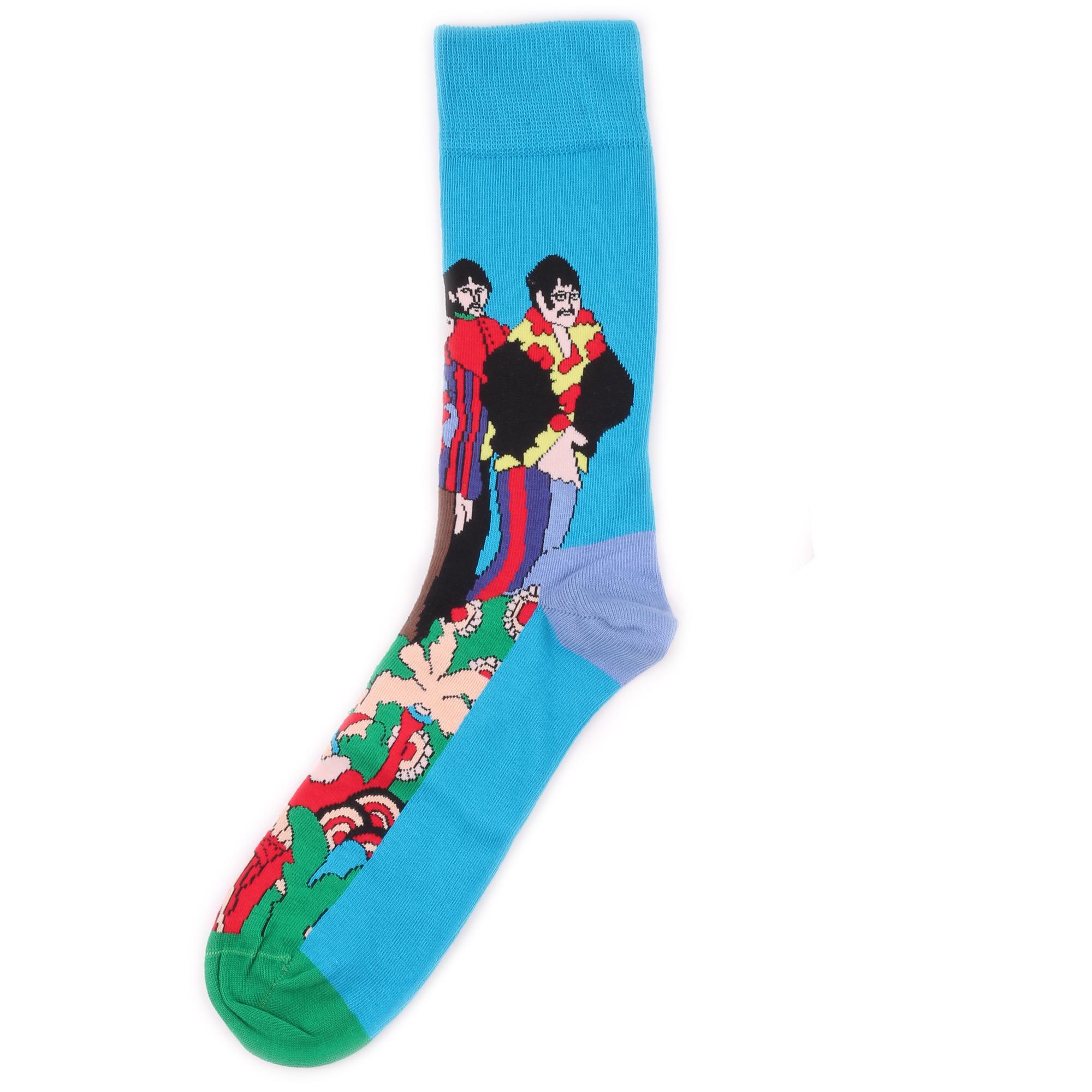 Носки унисекс Happy Socks x The Beatles - Pepperland синие 41-46