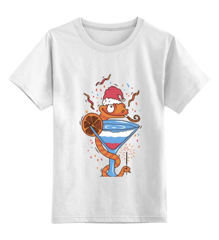 Купить 0000000676493, Детская футболка классическая Printio New year, р. 164,
