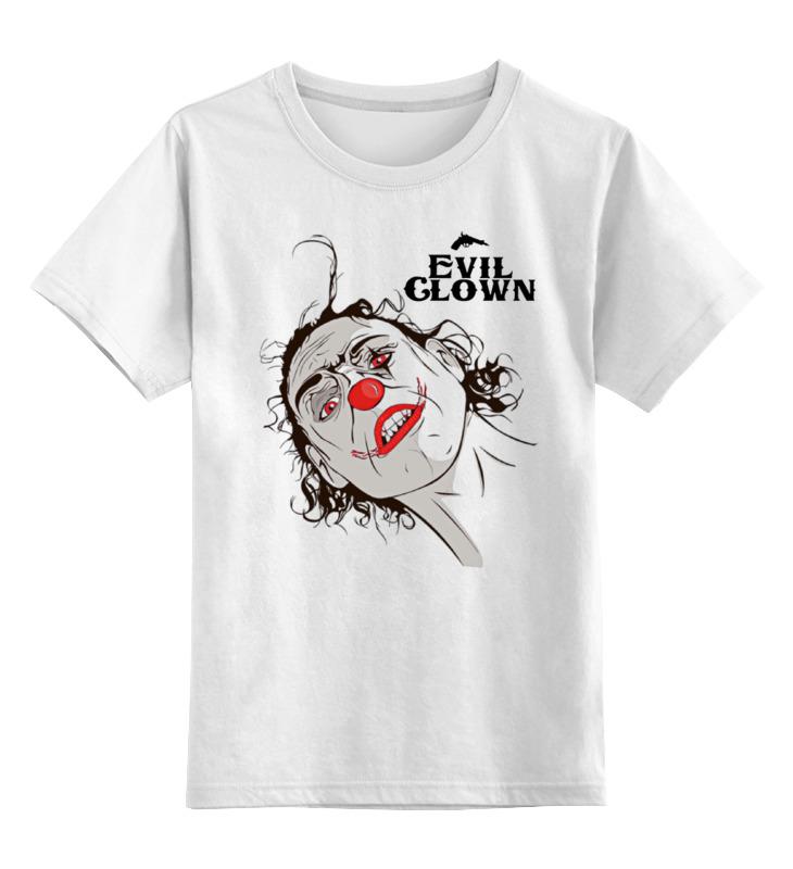 Купить 0000000678108, Детская футболка классическая Printio Evil clown, р. 164,