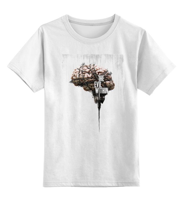Купить 0000000684227, Детская футболка классическая Printio The evil within, р. 164,