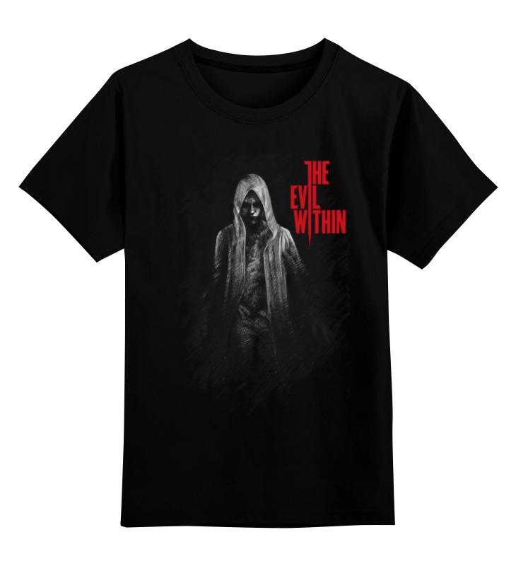 Купить 0000000685480, Детская футболка классическая Printio The evil within, р. 164,