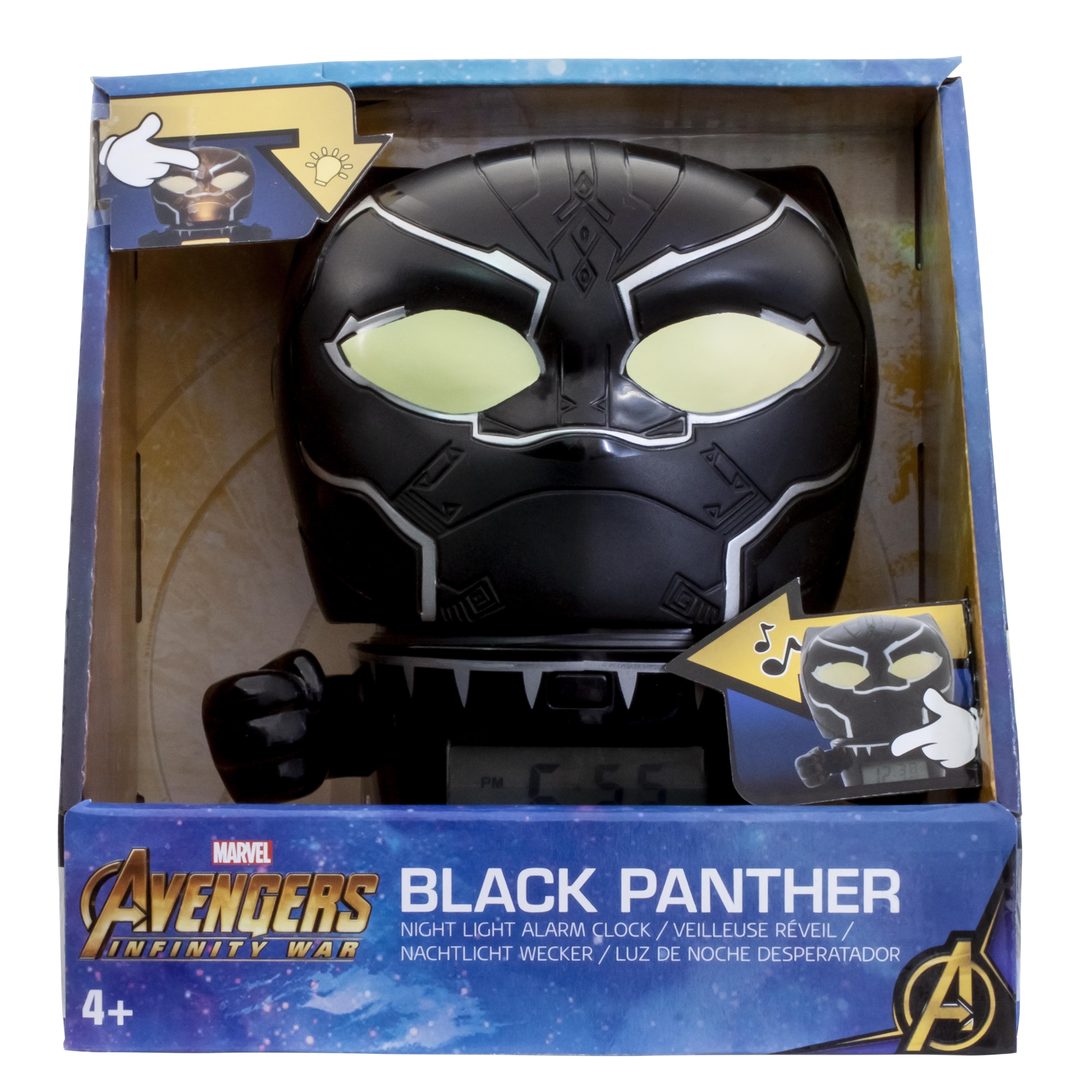 Будильник BulbBotz Marvel, минифигура Black Panther (Черная