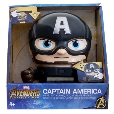 Будильник BulbBotz Marvel, минифигура Captain America (Капитан