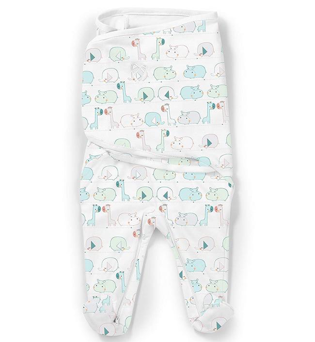Купить Конверт для пеленания Summer Infant SwaddleMe Footsie, размер S, джунгли 56960,